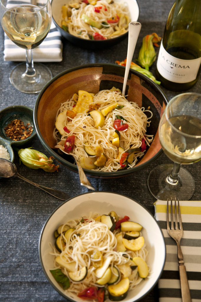 Angel Hair With Zucchini And Tomatoes Recipe — Dishmaps
